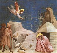 Ангел являється святому Йоакиму із звісткою, що йому на склоні літ буде дарована дитина
