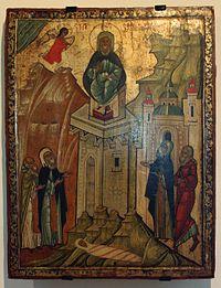 Українська ікона Симеона Стовпника з регіону Бескиду в Карпатах