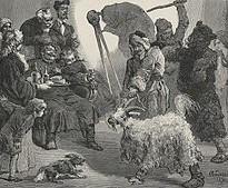 М. Андріоллі. Водіння кози в панському маєтку. Західна Білорусія, XIX століття